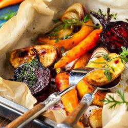 Caramelised Root Vegetable Roast