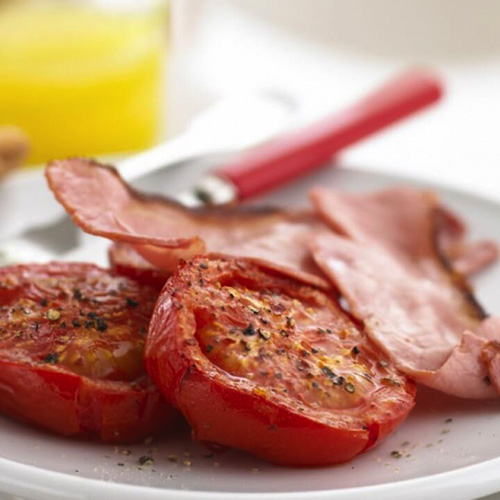 Spiced Tomatoes with Bacon