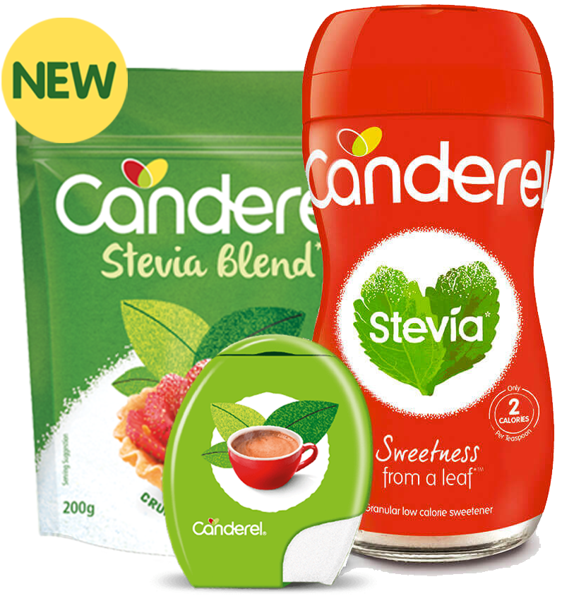 Canderel Stevia range with new flash