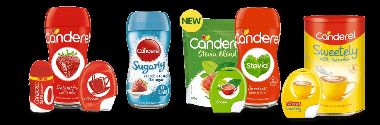 canderel product range